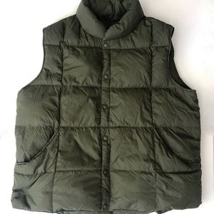 Land's End Olive Green Mens Puffer Vest XL